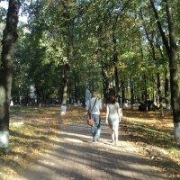 Прогулка по осеннему парку отдыха :: Ольга Кривых