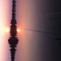 закат на рыбалке :: Сергей Л