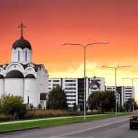 Красный закат :: Stas Hodalev