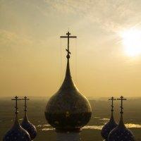 Купола храма Архистратига Михаила в Большом Козино :: Николай Полыгалин