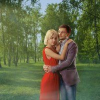 Пара в лесу :: Виктор Веденяпин