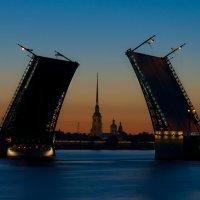 Дворцовый мост на рассвете :: Кирилл Колосов