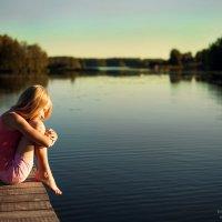 закат на озере :: Марина Ионова