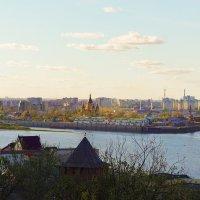 Вид на заречную часть на закате :: Александр Табаков