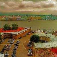 С высоты МИ-8.Взлет  над территорией Петропавловской  Крепости :: Алла ************