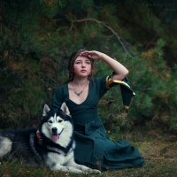 девочка и собака :: Ярослава Бакуняева