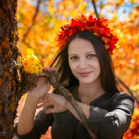 Девушка осень :: Дарья Илькова