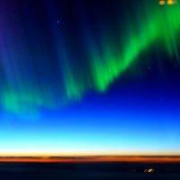 Полярное сияние- встреча над облаками :: vg154