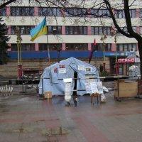 Протестная  палатка  в  Ивано - Франковске :: Андрей  Васильевич Коляскин