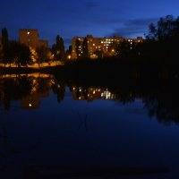 Вечер на пруду :: Евгений