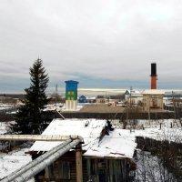 Усть-Вымь. Вид с крыши котельной на пожарную часть. :: Николай Туркин