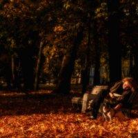"""Осенний вечер в парке """"Тихий отдых"""" :: Владимир Горубин"""