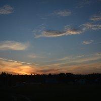 Закат над деревней :: Сергей Щеглов