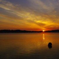 Рассвет на озере. :: Анатолий 2015 Трепышко