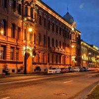 Вечер на набережной Макарова :: Юрий Тихонов