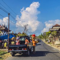 в балийской деревне :: Александр