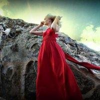 девушка и горы :: Юлия Качимская