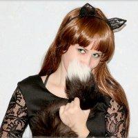 девушка кошка :: Ольга (Кошкотень) Медведева