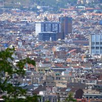 Вид на Барселону с горы Монжуик :: Таня Фиалка