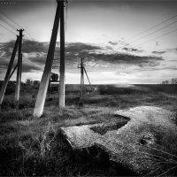 Закат  с антенами :: Павел Корнеев