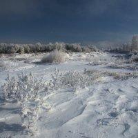 Уже покрыло землю снежным одеялом,уже сковало реки ледяным ковром... :: Александр Попов
