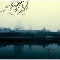 Псков. Река Великая. Туман. :: Fededuard Винтанюк