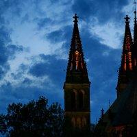 Ночь,Прага,Костел. :: Александр TS
