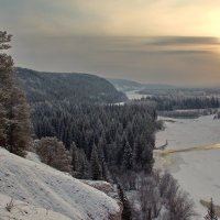 утро белой осени в Сибири :: Александр