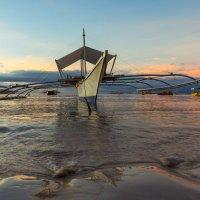 Пейзаж с лодкой :: алексей афанасьев