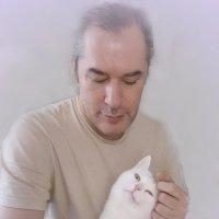 Портрет с котиком :: Игорь