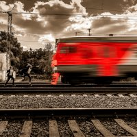 Навстречу поезду :: Фотограф Андрей Журавлев