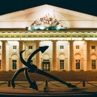 Здание Биржи (плёночное фото) :: Евгений Дмитриев