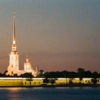 Петропа́вловская кре́пость (плёночное фото) :: Евгений Дмитриев