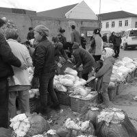 На рынке-продажа и покупка пекинской капусты. Сахалин :: Ilona An