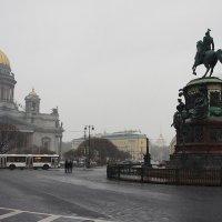 Исаакиевские собор и площадь. Вид со стороны Мариинского дворца :: Елена Павлова (Смолова)