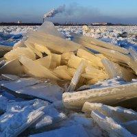 Великий Амур сковало льдом. :: Поток