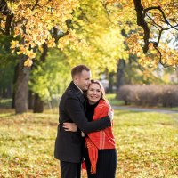 Осенняя фотосессия Кати и Романа :: Алина Мартынова