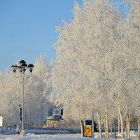 зимняя заснежиность на центральной площади :: Михаил Плецкий