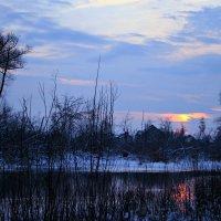 Вот и солнце удаляясь на покой, опускается за сонною рекой ... :: Евгений Юрков
