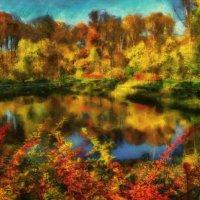 Осенью на пруду. :: Василий Ярославцев
