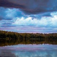 Закат над озером.. :: Александр Мещеряков