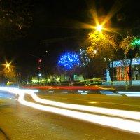 Ночной проспект Ленина, Измаил :: Жанна Романова
