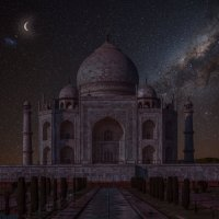 Индия.Тадж- Махал ночью. :: юрий макаров