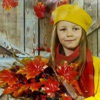 Девочка и осень. :: Маргарита ( Марта ) Дрожжина