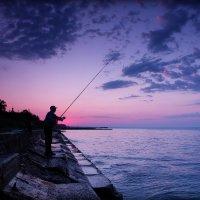 Рыбалка на рассвете. :: Валентин Репин