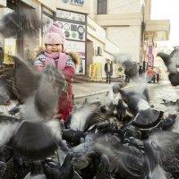 Девочка и голуби :: Наталья Одинцова