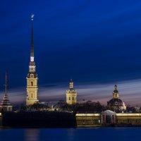 Петропавловская крепость после заката :: Елена Лебедева