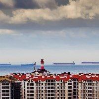 строительный пейзаж с судами :: Валерий Дворников