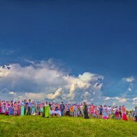 Семенково.Молебен на Троицу :: Валерий Талашов