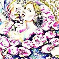 Девушка в цветах :: Сергей